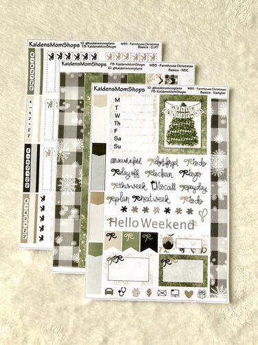 WB5 - Farmhouse Christmas - Weekly Basics Kit - A la Cart