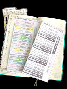 Hobonichi Weeks Single Habit Trackers