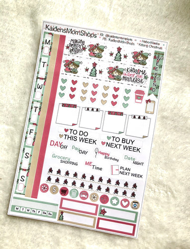 Hobonichi Weeks Sticker Kit - Kissing Christmas