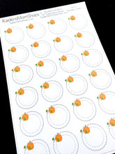 Pumpkin Scallop Circle Stickers - S402