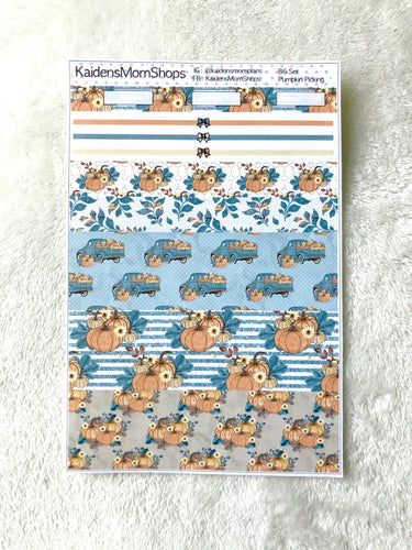 Pumpkin Picking B6 Planner Washi Set