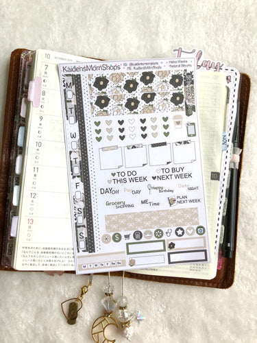 Hobonichi Weeks Sticker Kit - Neutral Blooms