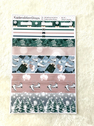 Winter Skating B6 Planner Washi Set