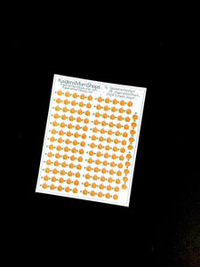 Pumpkin Header Stickers - S408