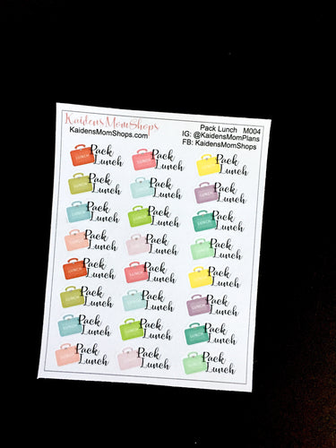 Pack Lunch Mini Sticker Sheet