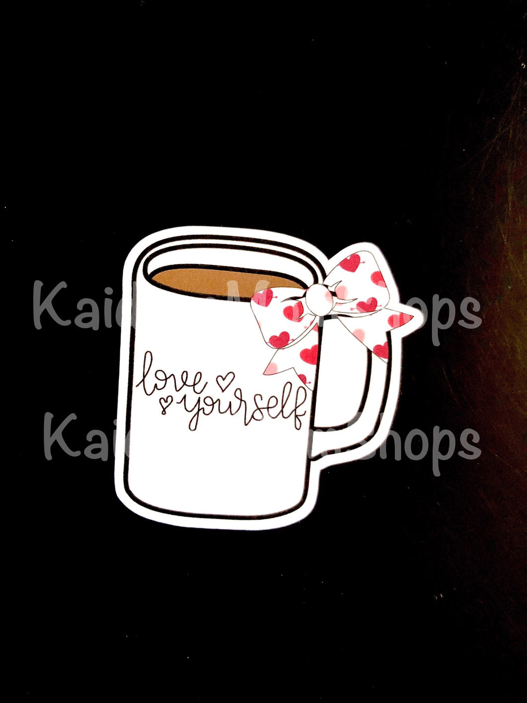 Love Yourself Bow Mug Die Cut