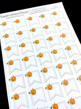 Pumpkin Page Flag Stickers - S403