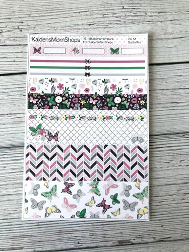 Butterflies B6 Planner Washi Set