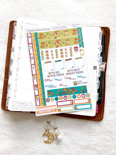 Hobonichi Weeks Sticker Kit - Fall Fun