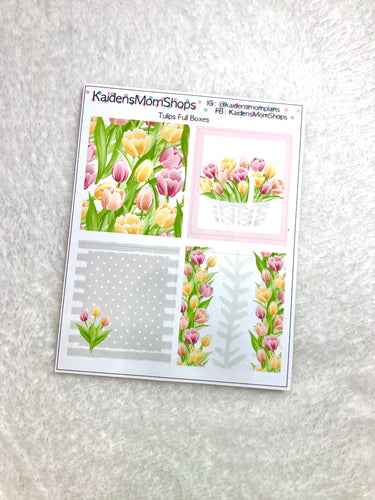 Tulip Full Boxes for B6 Planners