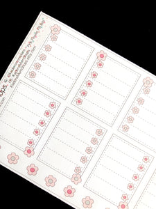 Pink Flower Full Box Checklists