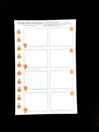 Pumpkin Full Box Sticker Sheet - S405