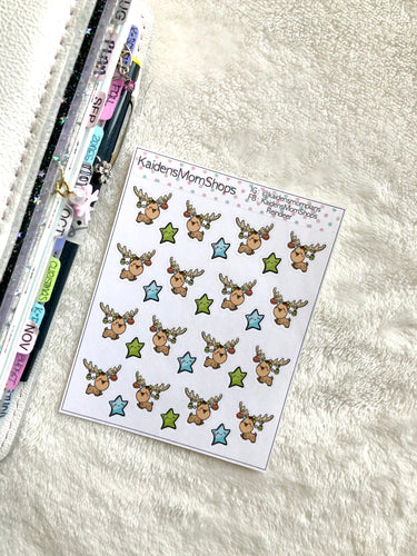 Reindeer Mini Sticker Sheet