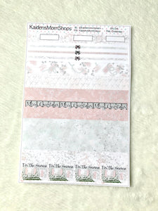 Pink Christmas B6 Planner Washi Set