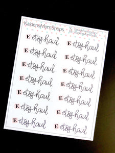 Etsy Haul Mini Sticker Sheet - Handlettered