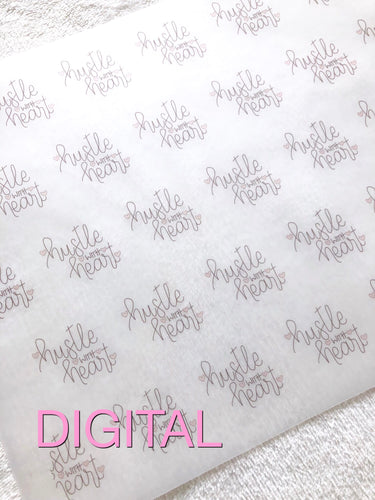 Hustle with Heart Printable Digital Paper