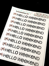 Bow Hello Weekend Banner Mini Sheet