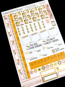 Hobonichi Weeks Sticker Kit - Autumn Fox
