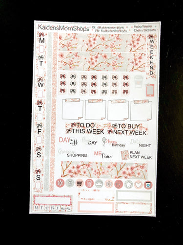 Hobonichi Weeks Sticker Kit - Cherry Blossom