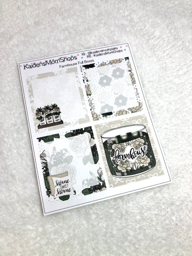 Farmhouse Full Boxes for B6 Planners