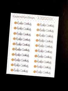 Bake Cookies Mini Sticker Sheet - Handlettered