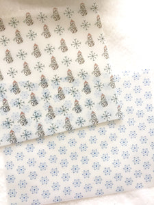 Winter Vellum - Set of 2 or A la Cart