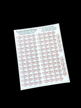 Pink Heart Spacers Mini Sheet - S308