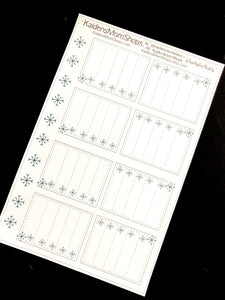 Snowflake Full Box Checklists - Snowflake Collection