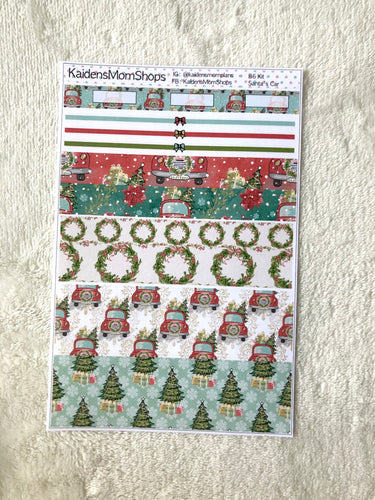 Santa's Car B6 Planner Washi Set