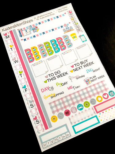 Hobonichi Weeks Sticker Kit - School Days