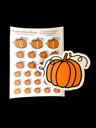Pumpkin Mini Sticker Sheet and or Die Cut