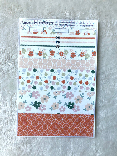 Orange Blossom B6 Planner Washi Set