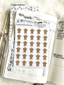 Gingerbread Mini Sticker Sheet