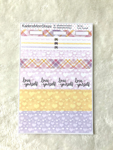 Love Yourself B6 Planner Washi Set