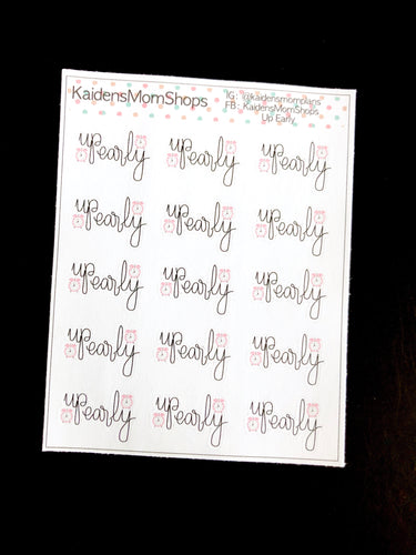 Up Early Mini Sticker Sheet - Handlettered