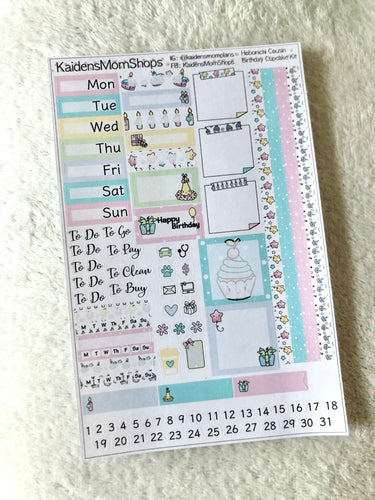 Birthday Cupcake Hobonichi Cousin Weekly Kit