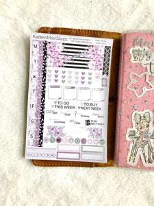 Hobonichi Weeks Sticker Kit - Violet Daisy