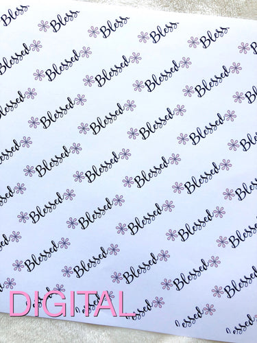 Blessed Printable Digital Paper