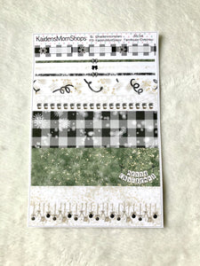 Farmhouse Christmas B6 Planner Washi Set