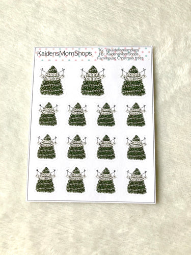 Farmhouse Christmas Tree Mini Sticker Sheet