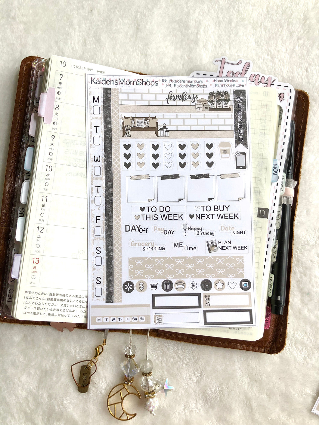 Hobonichi Weeks Sticker Kit - Farmhouse Love