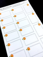 Pumpkin Half Box Stickers - S404
