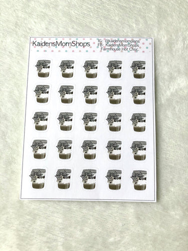 Farmhouse Christmas Hot Cocoa Mini Sticker Sheet