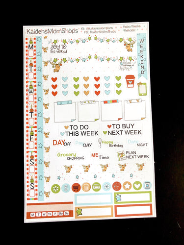 Hobonichi Weeks Sticker Kit - Reindeer