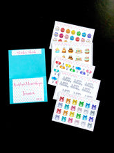 Teenies Set 11 - Happy Birthday Collection - 5 Teenie Sticker Sheet and a pocket