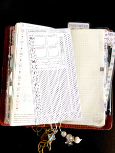 Hobonichi Weeks Basics - Polka Dot (Black and White)