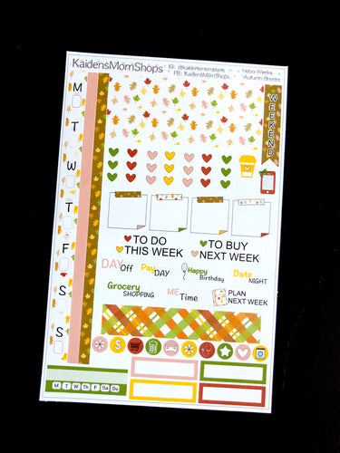 Hobonichi Weeks Sticker Kit - Autumn Breeze