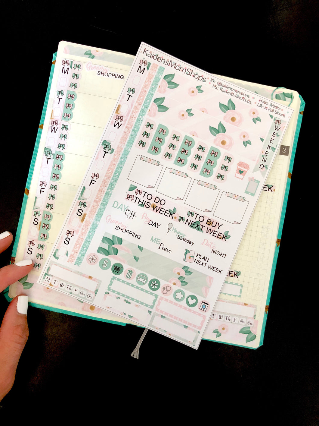 Hobonichi Weeks Sticker Kit - Life in Full Bloom