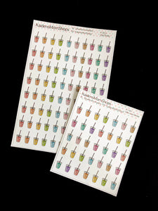 Iced Frozen Drinks - Full or Mini Sheet - F.032