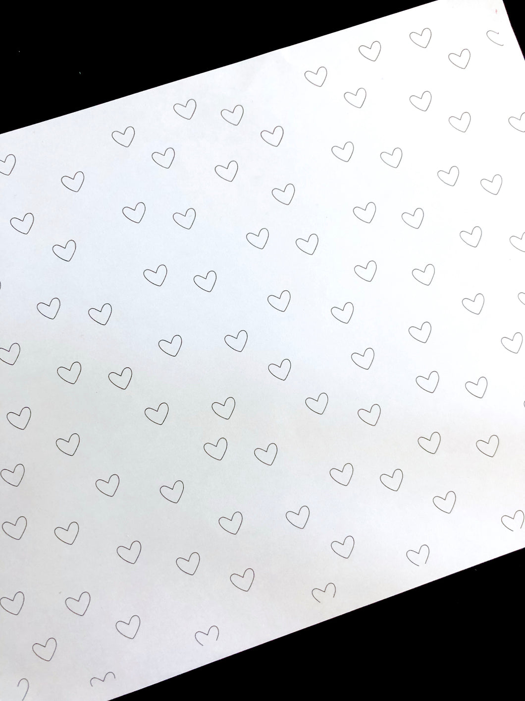 Black and White Floating Hearts Digital Paper